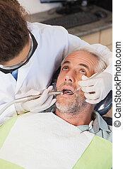malades, examiner, dentiste, dents, dentistes président