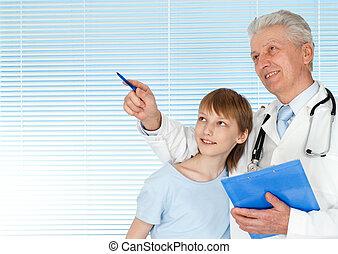 malades, heureux, docteur