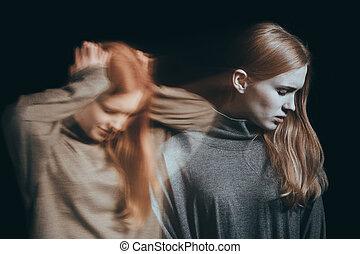 maladie, adolescent, mental