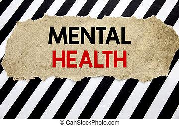 maladie, concept, mental, business, papier, texte, projection, space., écriture, note, écrit, inquiétude, arrière-plan noir, health., désordre, manuscrit