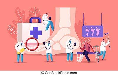 maladie, gens, patient, pathologie, orteil, inférieur, ...