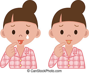 maladie, langue
