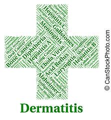 maladie, maladie, afflictions, dermite, indique, peau
