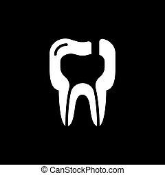 maladies, illustration, dent, vecteur, icon., periodontitis