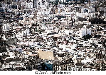 Malaga cityscape, Spain