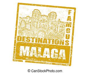 malaga, francobollo