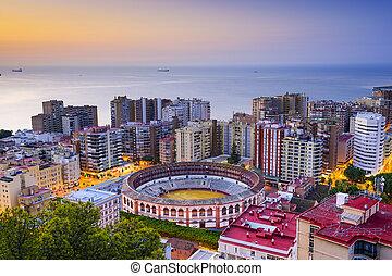 Malaga, Spain Cityscape - Malaga, Spain cityscape at dawn.
