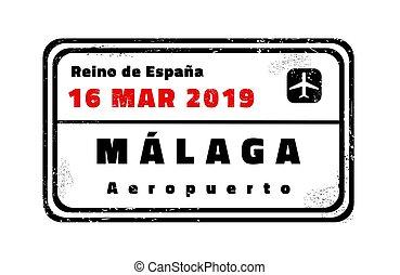 Malaga vector stamp