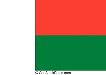 Malagasy Flag of Madagascar