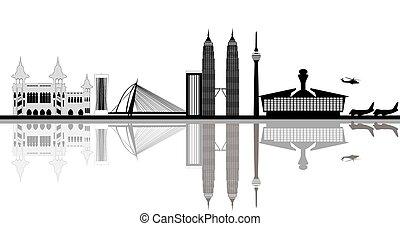 malaisie, capital, kuala lumpur, ville