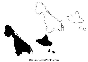 Penama province (republic of vanuatu, archipelago) map ...