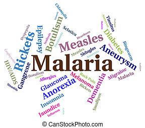 malaria, medios, enfermo, enfermedad, salud, aflicción