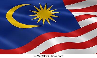 malasyan, bandeira, vento
