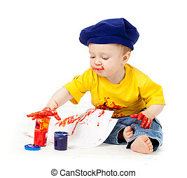 malatura, artysta, młode dziecko