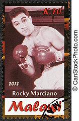 Malawi - 2012: shows Rocky Marciano