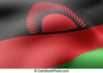 Malawi 3d flag