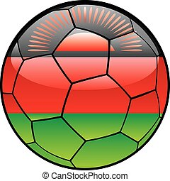 Malawi flag on soccer ball