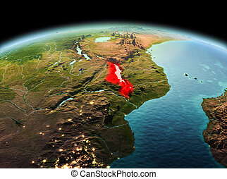 Malawi on planet Earth in space - Morning above Malawi...