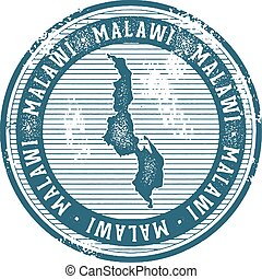 Malawi Vintage Country Stamp for Tourism