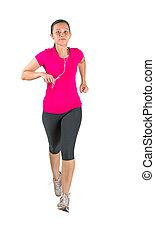 Malay Asian Female Running
