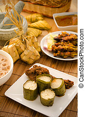 malay hari raya foods  lemang