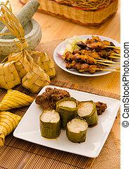 malay hari raya foods lemang ,focus on lemang