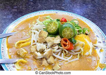 Malay Mee Rebus Dish Closeup