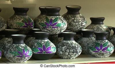 Malay Traditional Pottery, Perak, KL, Malaysia - Close-up...