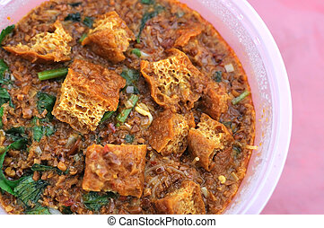 Malay traditional vegetarian curry - Sumptuous looking Malay...
