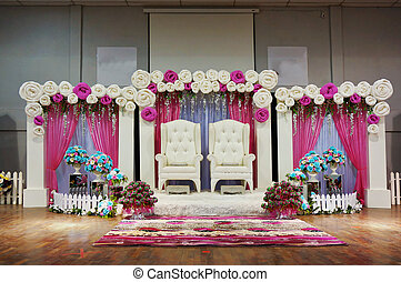 Wedding stage decoration stock photos and images 1052 wedding traditional wedding stage malay traditional wedding stage junglespirit Gallery