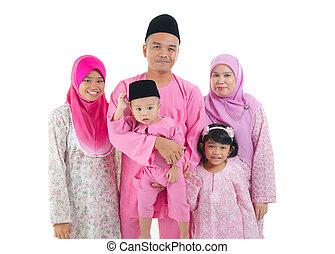 malay with traditional dress during hari raya