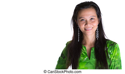 Malay Woman In Green Dress