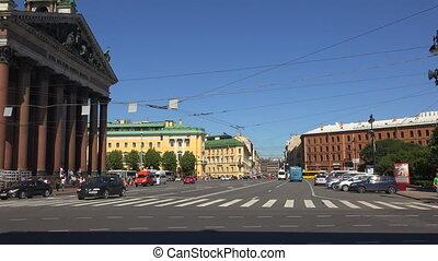 Malaya Morskaya street. Saint-Petersburg. Shot in 4K...