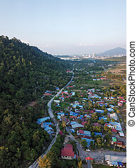 Malays village aerial view