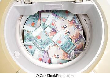 Malaysia Currency in washing machine