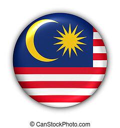 Malaysia Flag - World Flag Button Series - Asia - Malaysia...