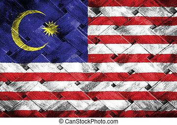 Malaysia  flag , Malaysia  flag on Weave Bamboo