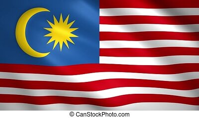 Malaysia flag moves in the wind