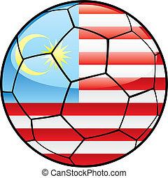 Malaysia flag on soccer ball