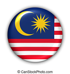 Malaysia Flag - World Flag Button Series - Asia - Malaysia (...