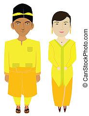 Malaysia Malays Traditional Costume