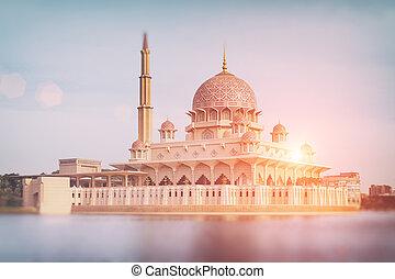 malaysia, moschea, -, putrajaya, putra