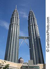 Malaysia - Petronas Towers - famous landmark of Kuala...