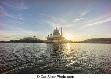 malaysia, putrajaya, putra, alba, moschea