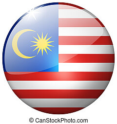 Malaysia Round Glass Button