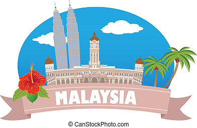 malaysia., turismo, e, viagem