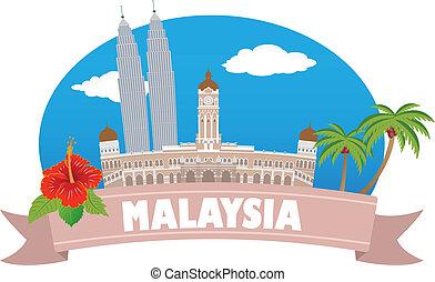 malaysia., turismo, y, viaje