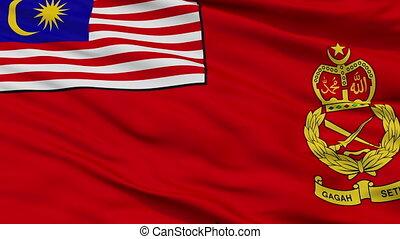 Malaysian Army Flag Closeup Seamless Loop - Malaysian Army...
