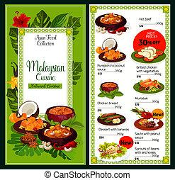 Arab cuisine traditional food dishes vector sketch menu icons  Arab