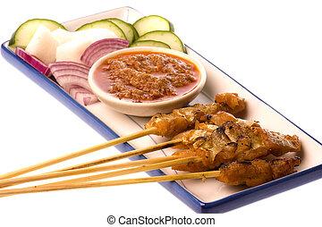 Malaysian Fish Satay - Image of a Malaysian delicacy...